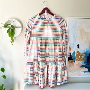 Hanna Andersson Long Sleeve Rainbow Stripe Dress